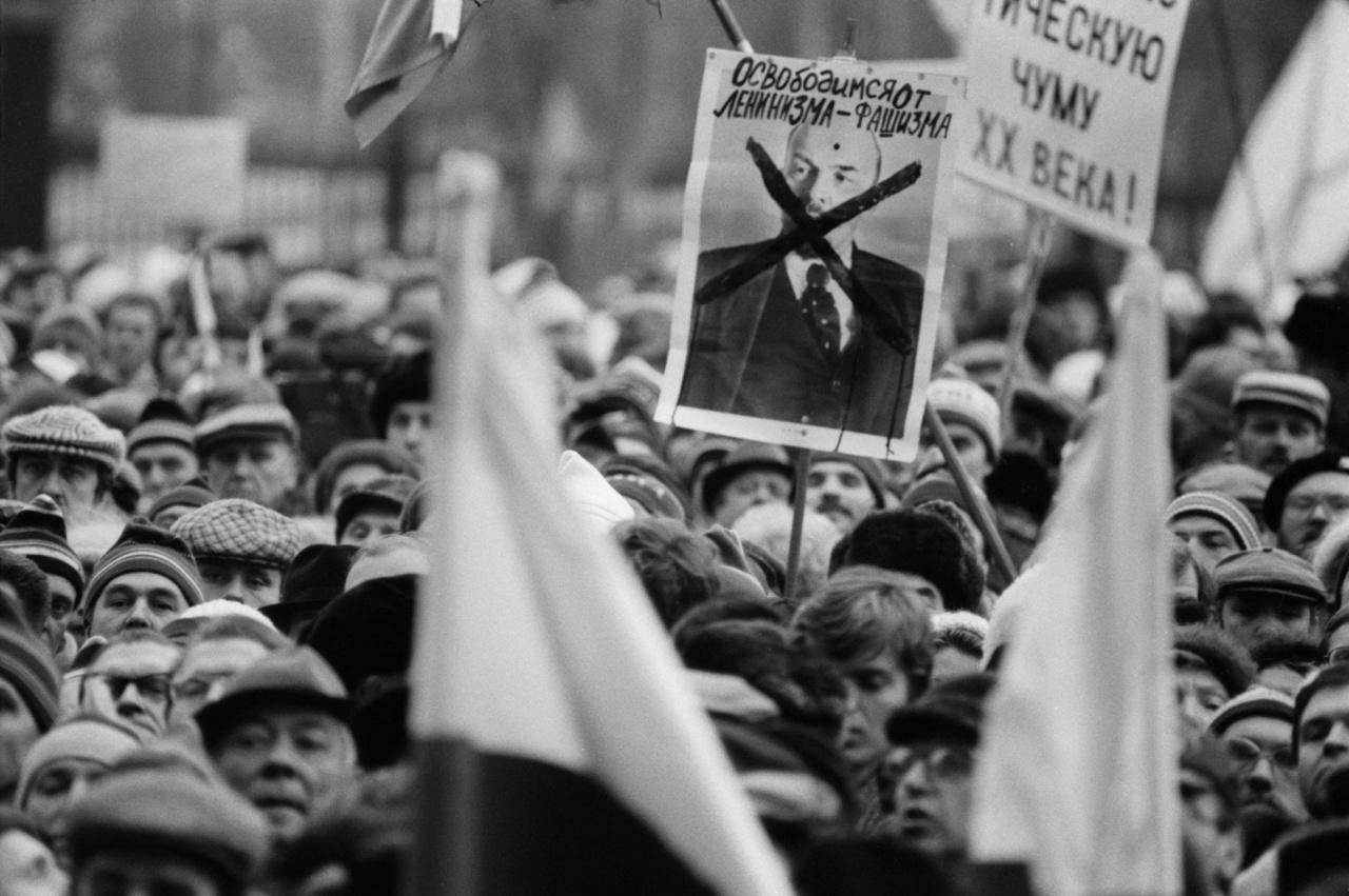 Moszkva 1990 ellenzéki demonstráció