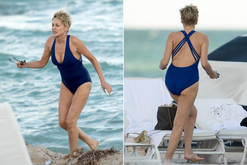 Miami strandján kapták le a színésznőt tegnap ebben a rafinált hátrészes fürdőruhában. Azért az látszik az arcán, hogy a víz hőmérsékletével nem a legelégedettebb.