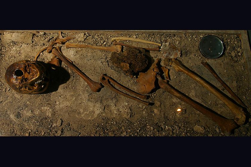 A csontvázat nem önmagában, hanem némi szervi maradvánnyal együtt találták meg: a lány gyomrát is megőrizte a mocsaras vidék.
