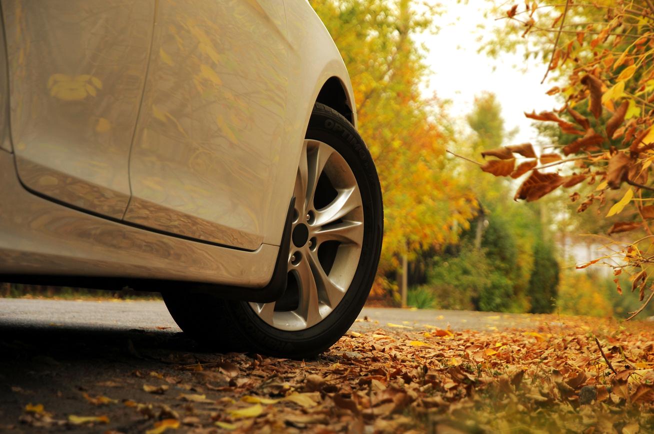 kocsi ősszel