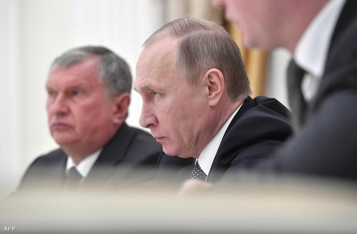 Igor Szecsin és Vlagyimir Putyin
