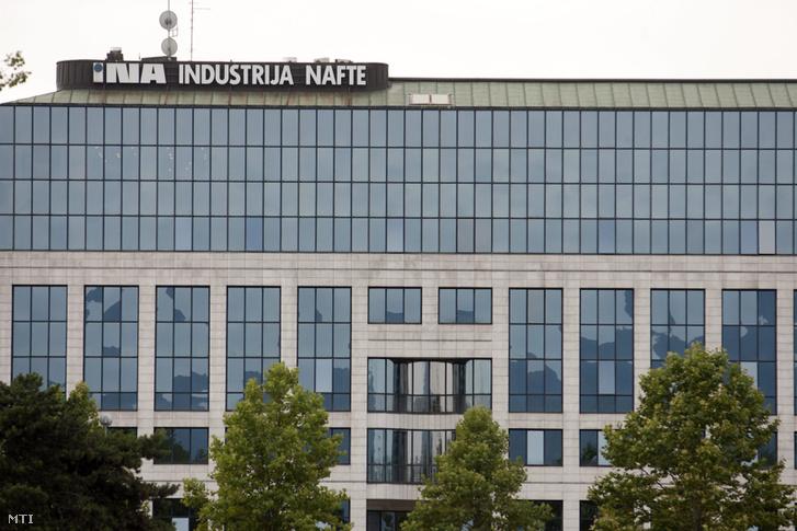 Az INA olajtársaság székháza a horvátországi Zágrábban.