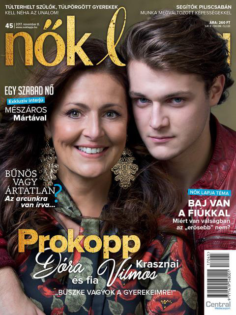 Prokopp Dóra másodszülött gyermeke, Vilmos másodéves színészhallgató, de sportol is, focizik.