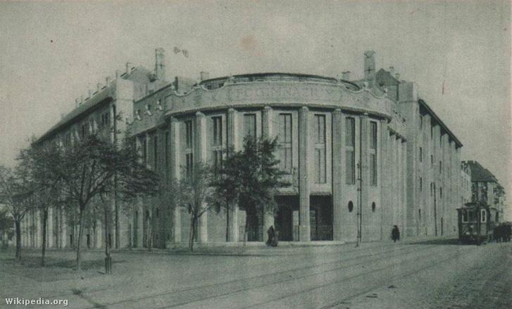 A frissen átadott Szent László Reálgimnázium 1915-ben. Vágó József és Lechner Ödön közös munkája
