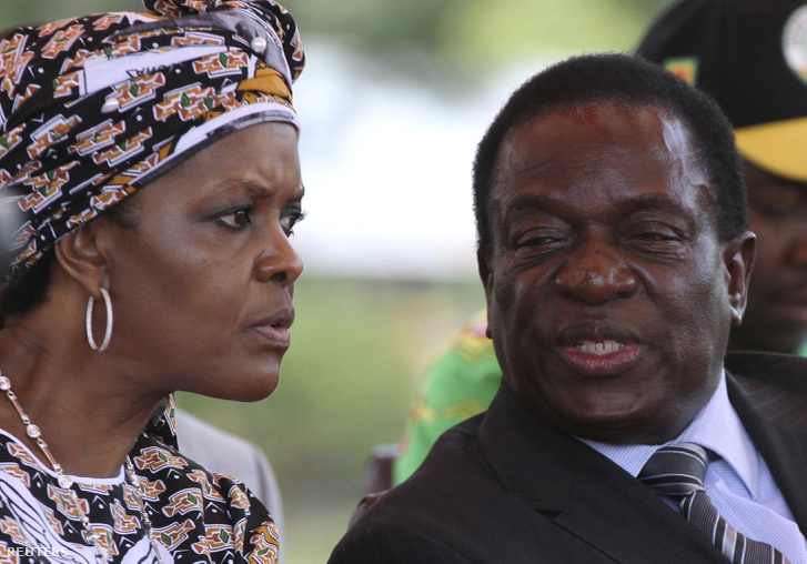 Grace Mubage és Emmerson Mnangagwa