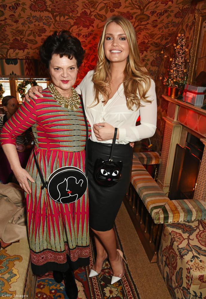 Egy másik karácsonyi parti Lulu Guinness-szel.