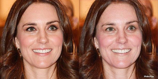 Két gyerek mellett nem csoda, hogy még Katalin hercegné szeme is karikás - sminkelve sokkal fiatalosabbnak és üdébbnek látszik az arca.