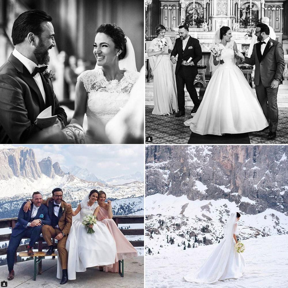 Debreczeni Zita és Gianni 2017. március 31-én, a legnagyobb titokban házasodtak össze a Dolimitok tövében.