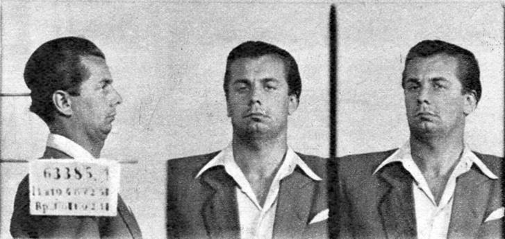Egy korábbi ügy miatt készült rabosítási fotó Sántha Dezsőről (Forrás: Dr. Bodor Endre - Élet elleni bűncselekmények, 1965)