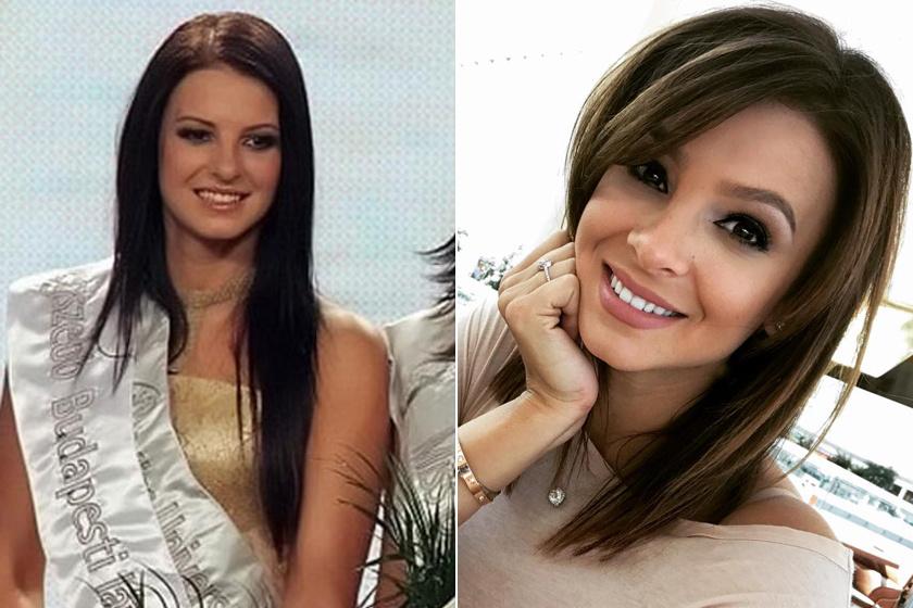 A bal oldali fotó 2007-ben készült az akkor 18 éves Sarka Katáról, amikor ő lett a legszebb budapesti lány. Ugyanebben az évben a Miss Universe Hungary-n első udvarhölgy lett.