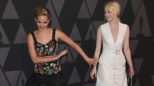 Két Oscar-díjas színésznő ökörködött egyet az Oscar-vacsorán