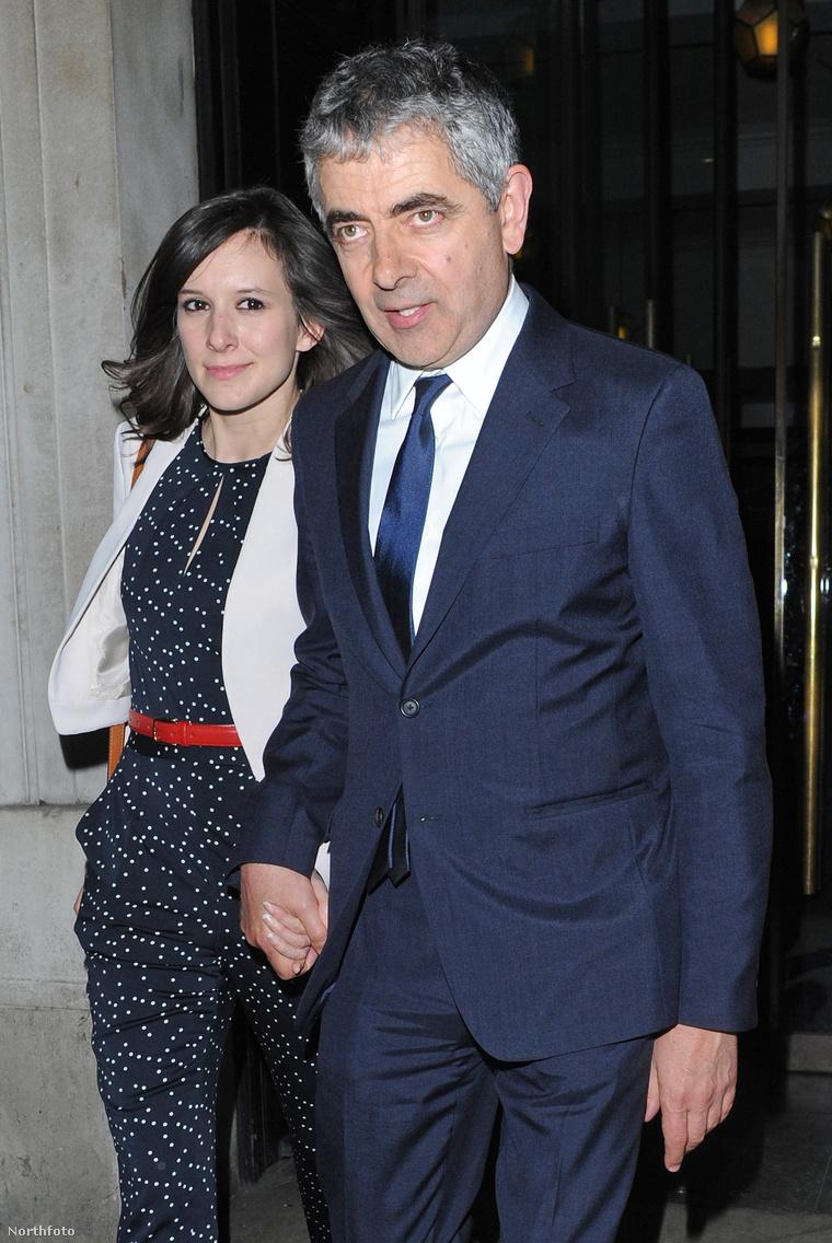 Luise Ford és Rowan Atkinson - ez a kép 2015-ös róluk, de a hír friss, hogy Ford teherbe esett
