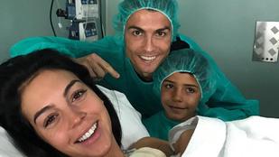 Megszületett Cristiano Ronaldo kislánya!