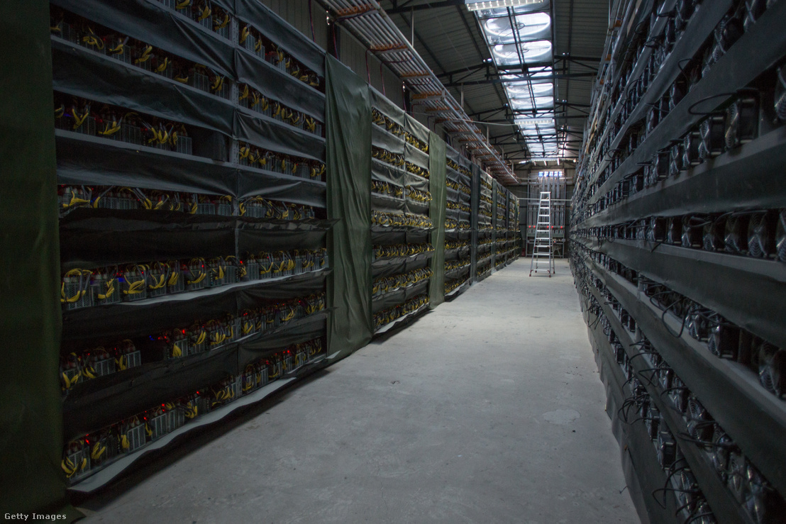 Bitcoin bánya Kínában.