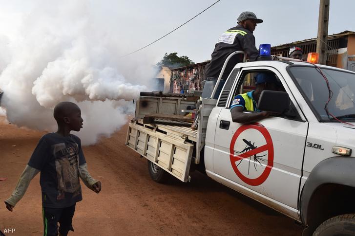 Moszkítóirtás Afrikában