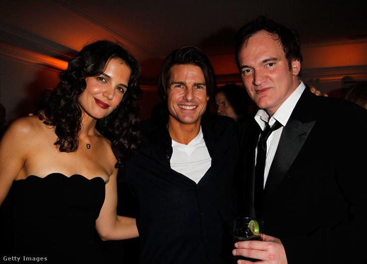 Katie Holmes, Tom Cruise és Quentin Tarantino 2011-ben