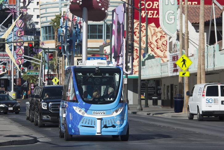 Az Navya Arma kisbusz első köre Las Vegasban…