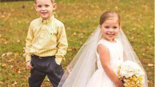 Ennek az ötéves kislánynak csak egy kívánsága volt, hogy a negyedik szívműtétje előtt összeházasodhasson a barátjával