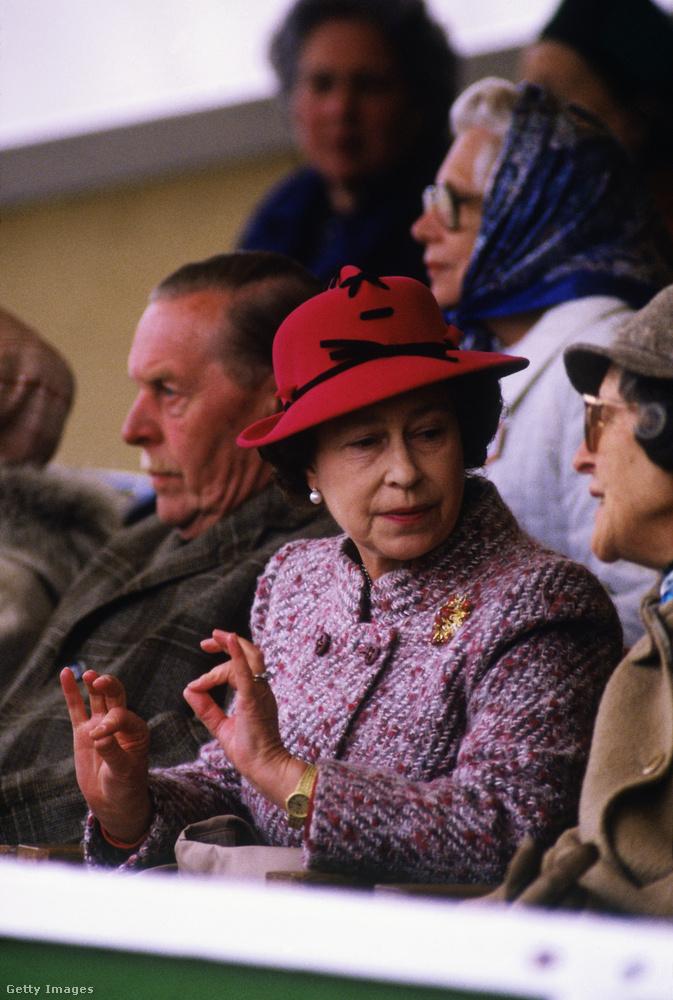 1984: lovakat véleményez a windsori lóshow-n.