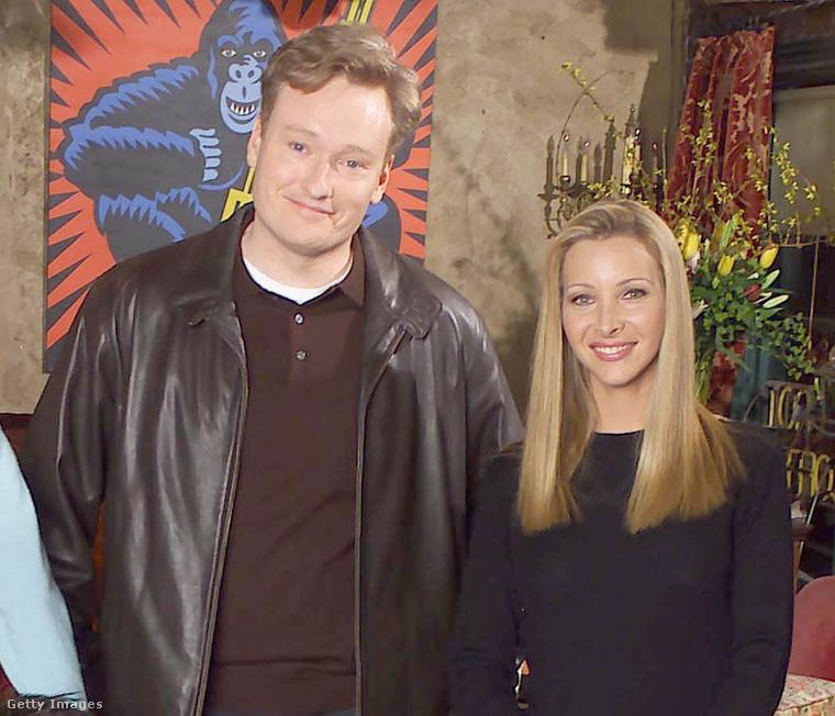 Lisa Kudrow és Conan O'BrienMielőtt Kudrow szerepet kapott a Jóbarátokban, O'Brienből pedig az egyik legismertebb műsorvezető lett, rövid ideig randiztak