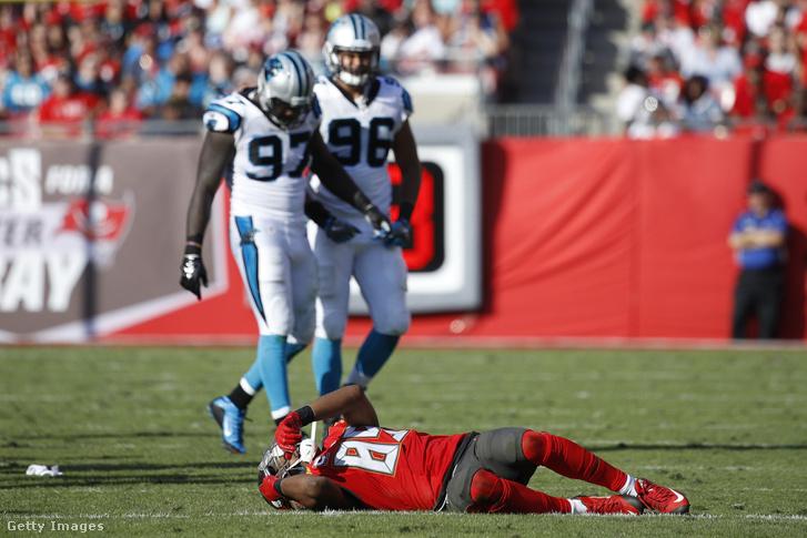 A Carolina Panthers elleni meccsen agyrázkódást szenvedő Tampa Bay Buccaneers-játékos Russell Shepard