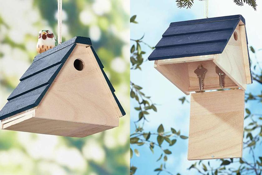 Ha van otthon madáretetőd, elrejtheted benne a lakáskulcsot. Bizonyára senki sem fogja ott keresni.