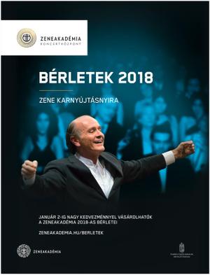 Zeneakadémia Bérletek 2018