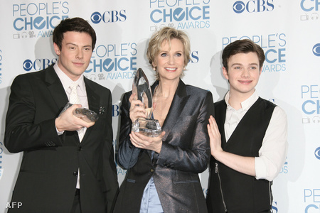 Cory Monteith, Jane Lynch és Chris Colfer