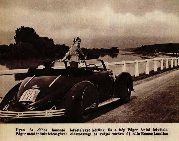1938, Páger Antal és a Touring-féle Superleggera-karosszériás Alfa Romeo 6C 2300-asa