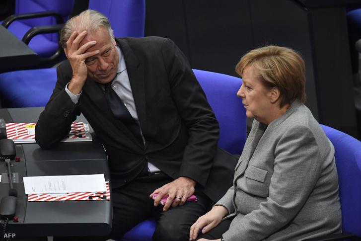 Jürgen Trittin és Angela Merkel