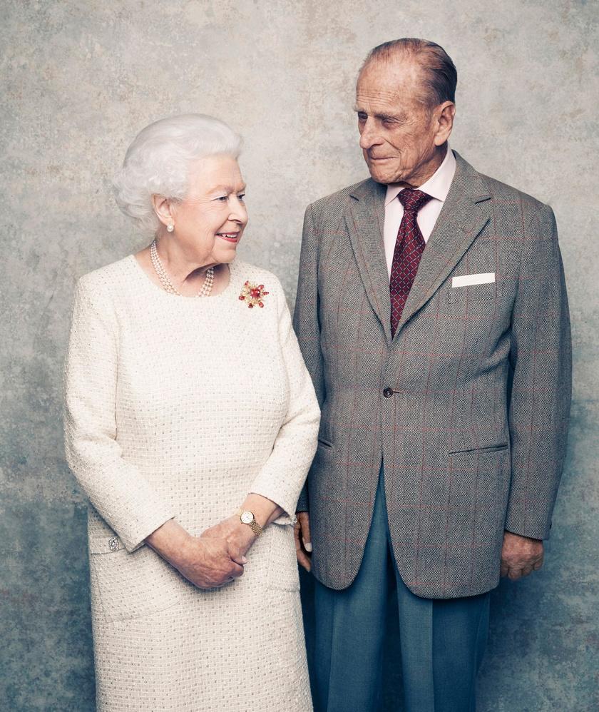 Matt Holyoak készítette ezeket a tündéri felvételeket a hetvenedik évfordulót ünneplő királyi párról.