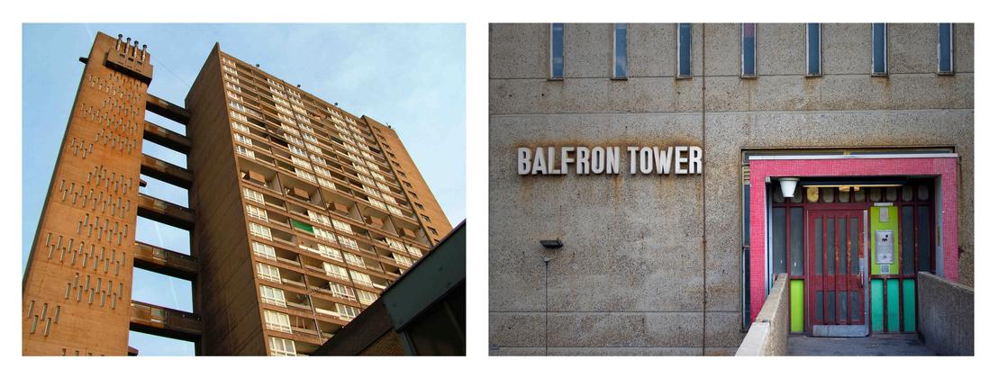 A 26 szintes Balfron-torony az East Enden, 1965-től 1967-ig épült. Mondhatni a Trellick ikertestvére.
