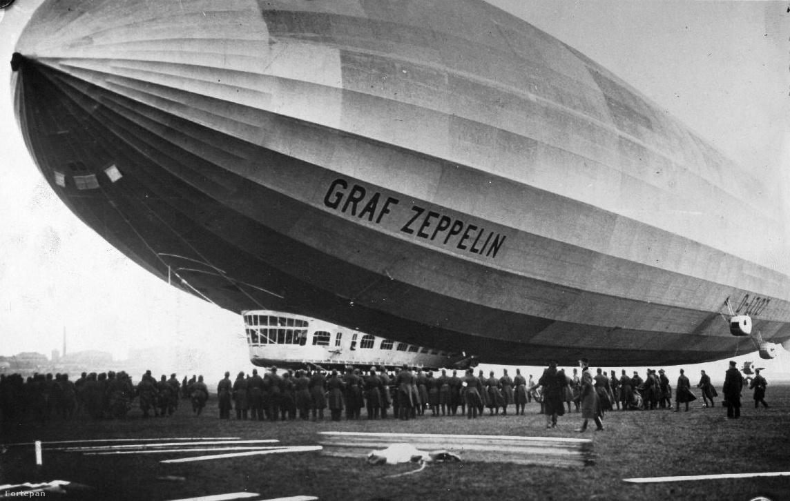 Már csak pár méter. A Magyar Aero Szövetség utászkatonákat  vezényelt  ki a reptérre,  hogy segítsék a  léghajó  leszállását és                          lehorgonyzását.