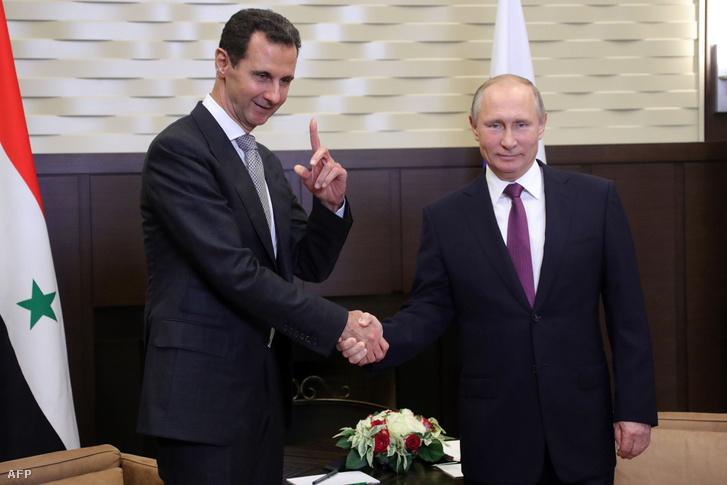 Vlagyimir Putyin és Bassár el-Aszad találkozója Szocsiban
