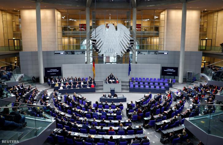 A Bundestag 2017. november 21-i ülése