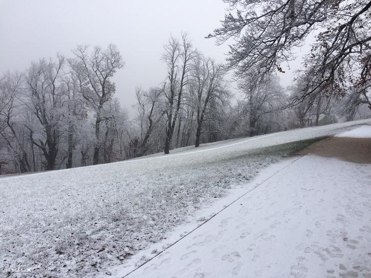Hétfőn hajnalban már havazott a Normafán