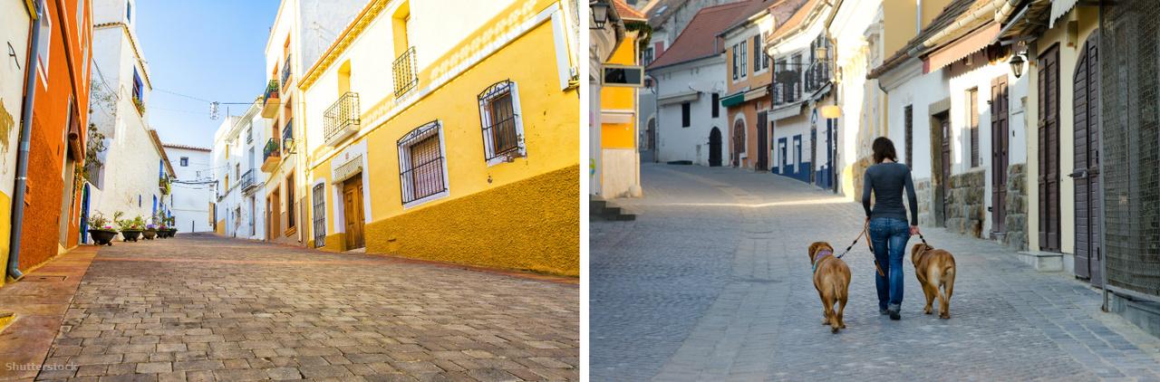 Alicante és Szentendre utcácskái