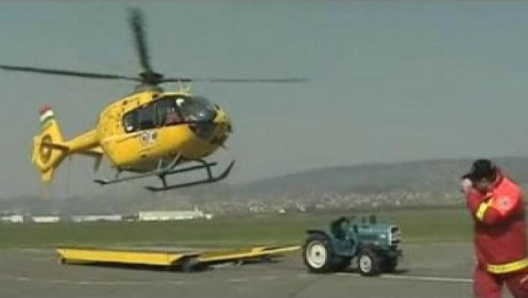 Amikor még örültünk a most lezuhant mentőhelikopternek