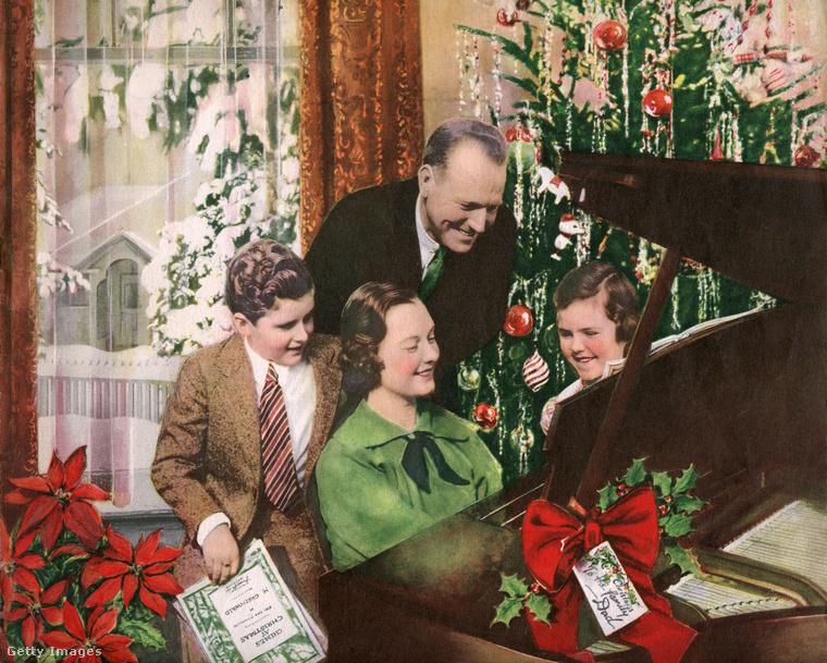 Jó, jöjjön most már egy családi idill! 1937-ben, az Egyesült Államokban készült a fotó, amely a képügynökségi leírás szerint egy idealizált pár és gyermekeik boldog pillanatait örökítik meg