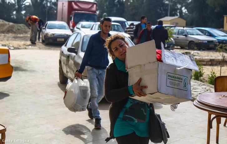 A Sínai-félszigetről elmenekült keresztények Egyiptomban 2017 februárjában.