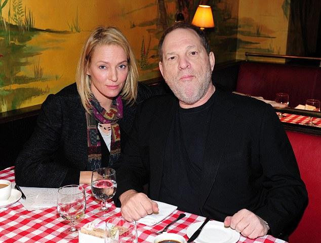 Uma Thurman és Harvey Weinstein 2016 januárjában