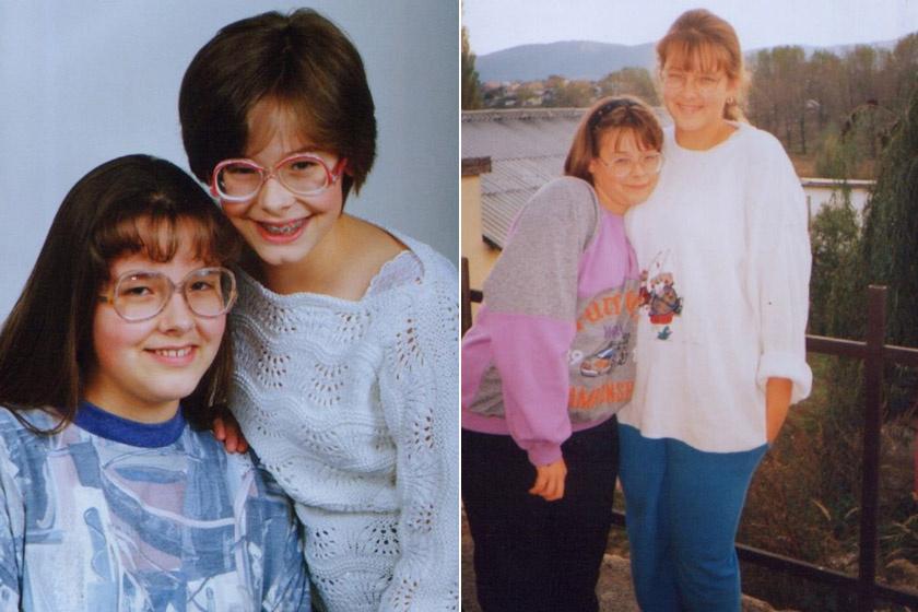 Peller Anna és húga, a műsorvezető Peller Mariann gyerekként.