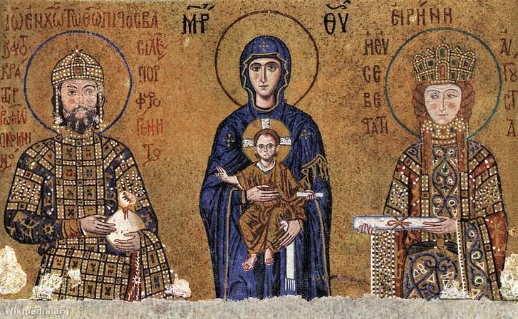 Piroska (Eiréné) császárné a családjával.