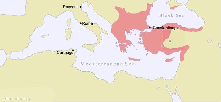 A Bizánci Birodalom II. Joannész Komnénosz uralkodása idején.