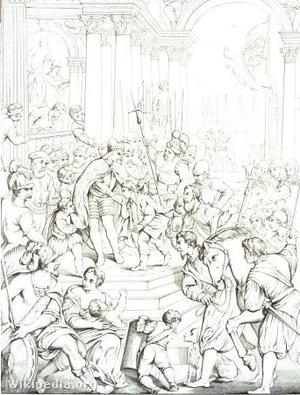 A későbbi IV. Alexiosz császár Zárában a keresztesek segítségét kéri apja trónjának visszaszerzéséhez.