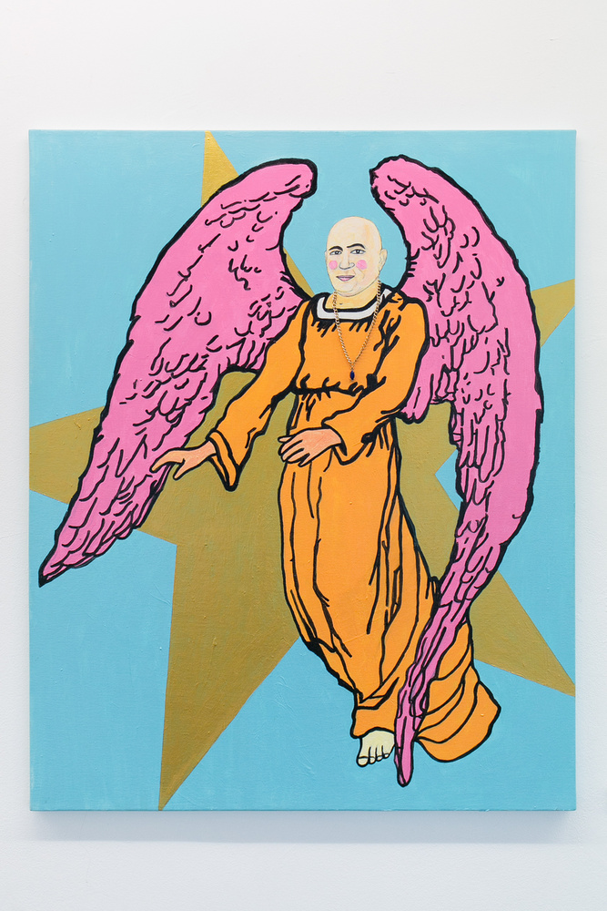 A kép címe: Rákosi arkangyal vigyáz rád.