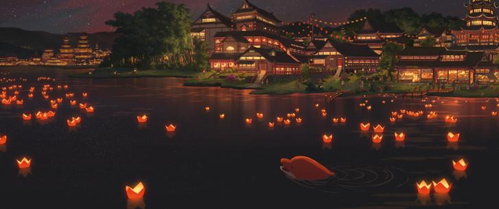 Xuan Liang és Chun Zhang kínai művészek lélegzetelállítóan szép munkája, a Hegyek és vizek könyve (Big Fish & Begonia)