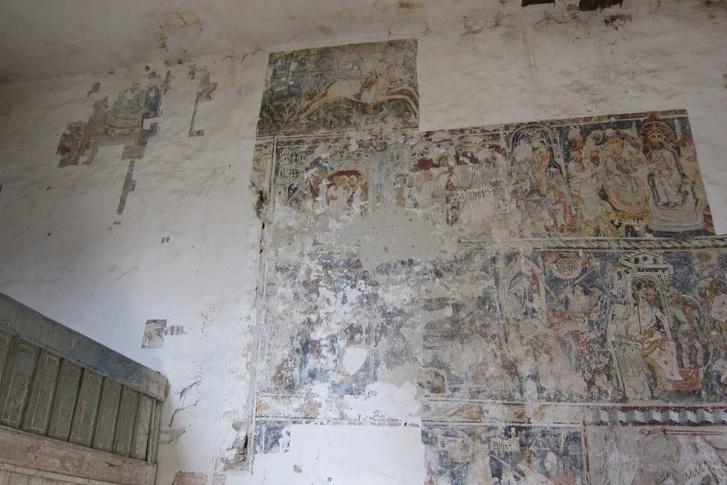 A somogyomi templom eddig feltárt falfestménye