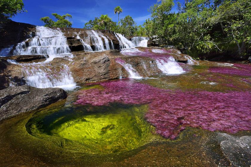 A folyó a Serrania de La Macarena National Parkon folyik keresztül, mely Kolumbia első nemzeti parkja.