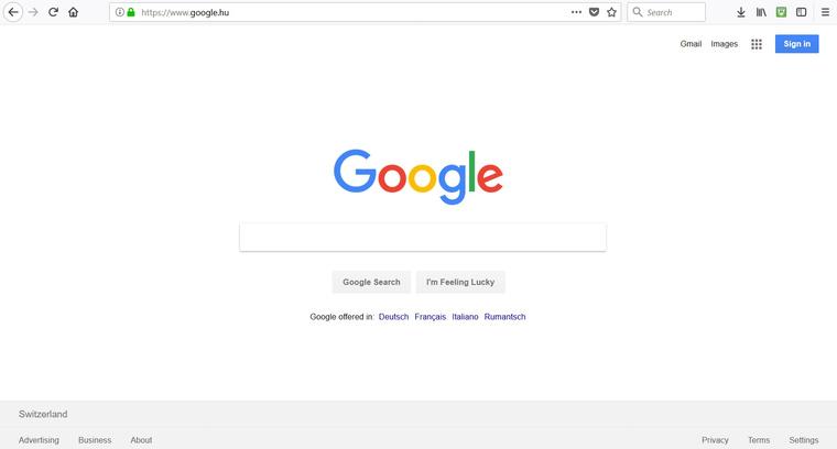 Google: aki Svájcban van, az ne akarjon magyarul keresni.